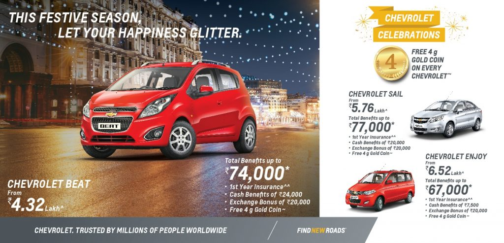 Delightful Chevrolet Festive Discount Offers India
