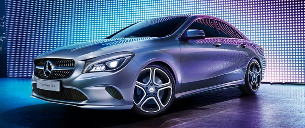 2016 mercedes benz cla facelift india details here launched at rs lakhs. Black Bedroom Furniture Sets. Home Design Ideas