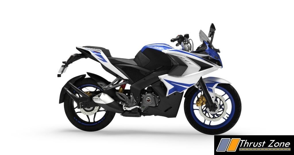 bajaj pulsar rs bsiv  aho    paint scheme priced  rs  lakhs