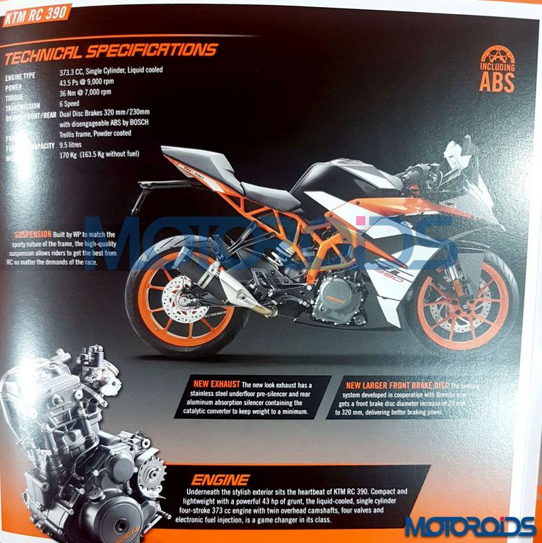 2017 KTM RC200 and RC390 Brochures Leaked, Launch Set For January 19'th