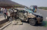 2017 Maruti Dzire Crashes Before Launch - High Speed Accident With Safari