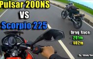 Pulsar 200NS vs Scorpio 225 (Karizma) In Indonesia  Drag Race Each Other - Interesting Results [VIDEO]