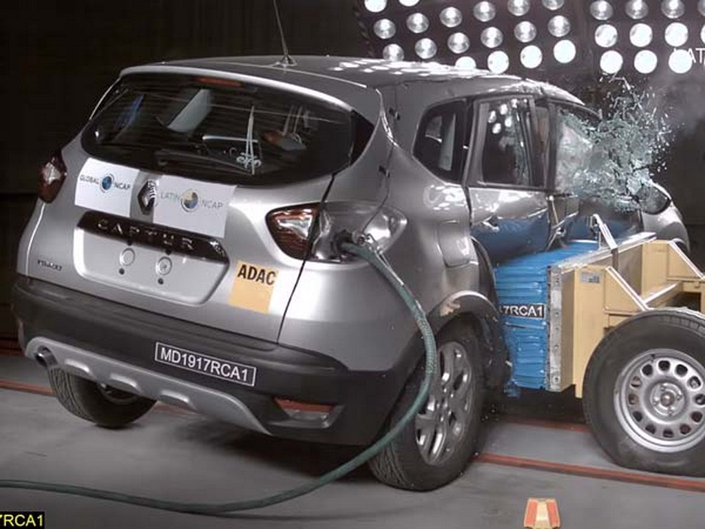 Renault Kaptur Crash Test Results In Full Five Star Rating India Launch In 2018
