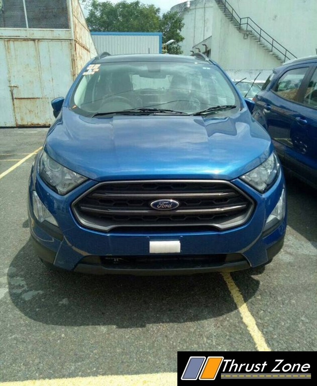 Ford Ecosport Facelift Gets Spied Completely In A Stunning Blue Shade