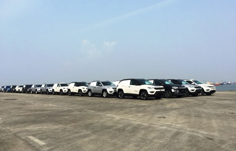 First Batch of the Jeep Compass at Bombay Port Trust ready to be shipped to Japan and Australia