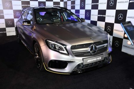 The newly launched Mercedes-AMG GLA 45 4MATIC Aero Edition in 'designo MAGNO' paint finish