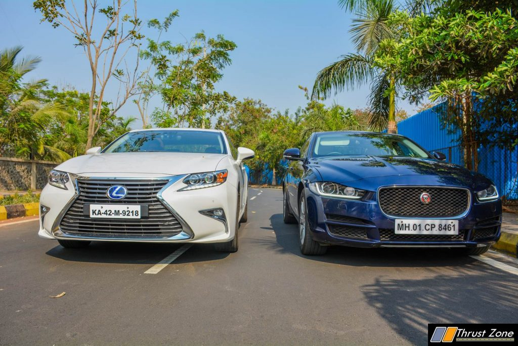 2018 Lexus ES300h India vs Jaguar Xe