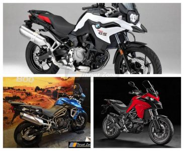 BMW F750 GS VS Triumph Tiger 800 XR VS Ducati Multistrada 950