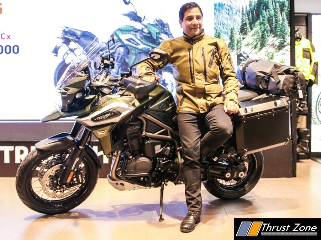 Triumph Tiger 1200 India Launch Price Specification Colors