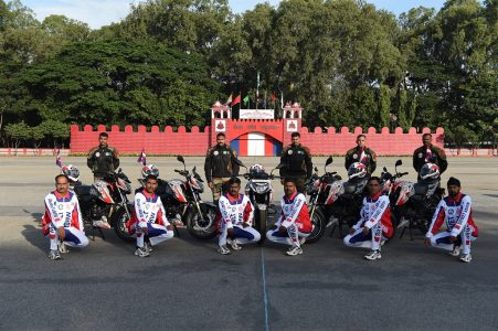 TVS And Corps Military Police Motorcycle Expedition Ride Together! (2)