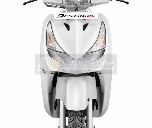 Destini 125 i3s Pearl Silver White1