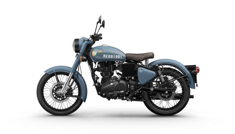 Royal Enfield Signals Airborne Blue Left Side Shot