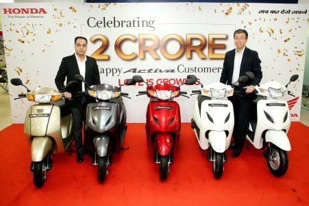 activa sales 2 crore units