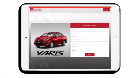 Toyota Test Drive App Engine Power iPad