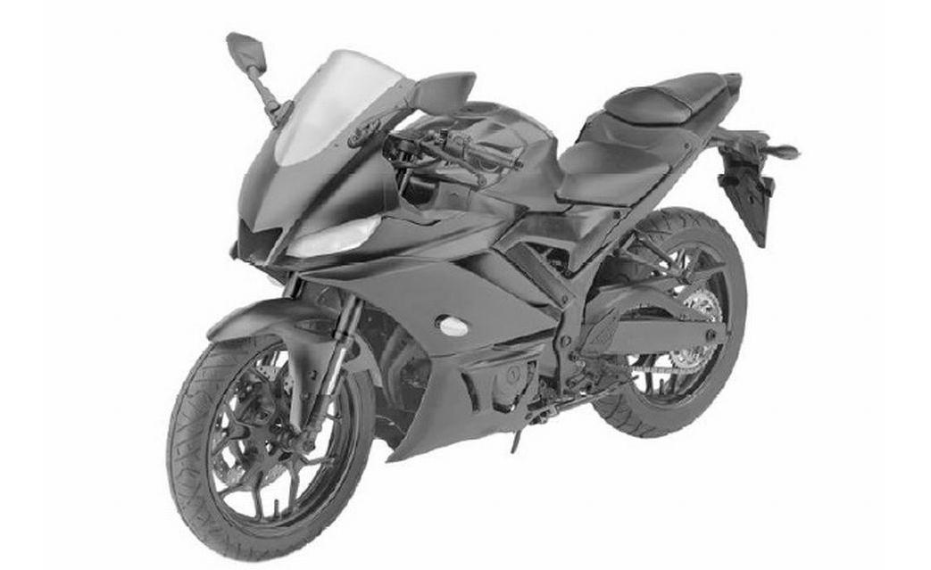 upcoming 2019 yamaha yzf r3 patent images leaked will take fight with ninja 300 and ktm rc 390. Black Bedroom Furniture Sets. Home Design Ideas