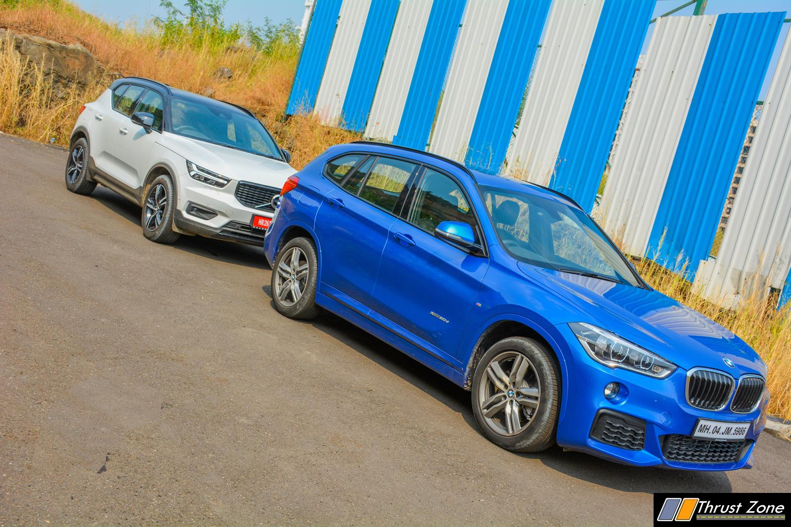 BMW X1 vs Volvo XC40 Diesel Comparison Review Shootout-11