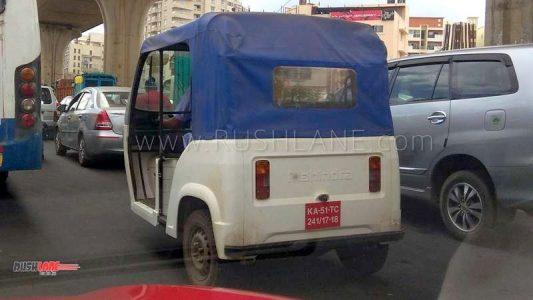 Mahindra Electric Auto rickshaw spied (2)