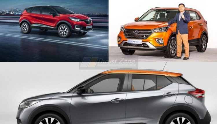 Nissan Kicks V Renault Captur V Hyundai Creta Specification Comparison (2)