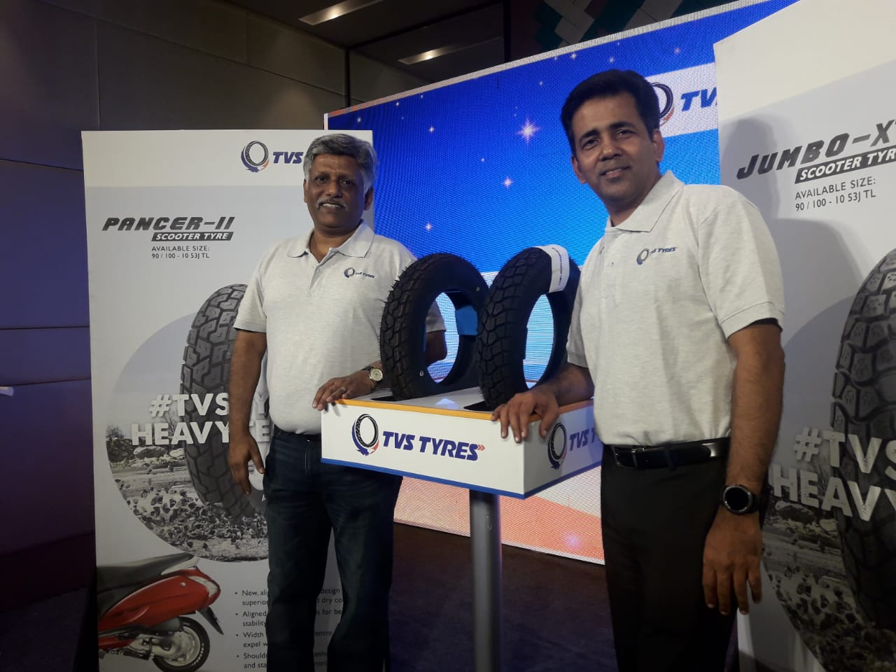 New TVS Scooter Tyre Launched - Jumbo XT and Pancer II (2)