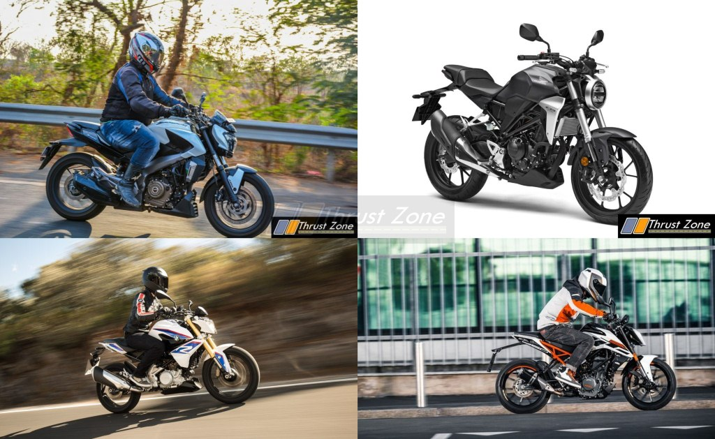 Honda CB300R Vs BMW G310R Vs Dominar 400 Vs KTM Duke 250 (2)