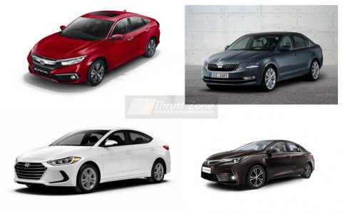 2019 Honda Civic Vs Hyundai Elantra Vs Skoda Octavia Vs Toyota Corolla Altis (2)