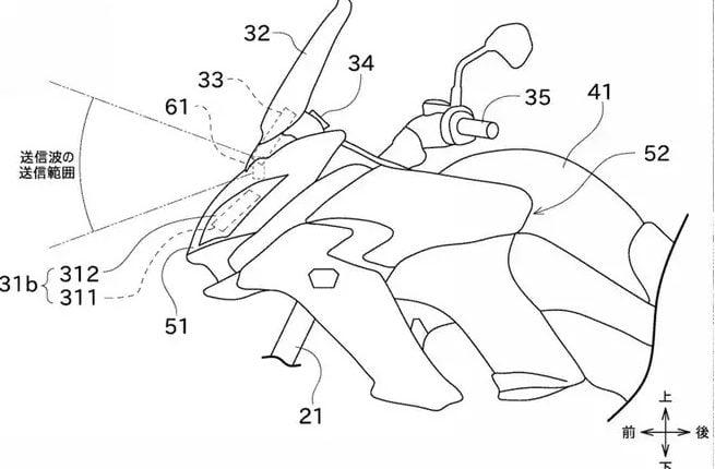 Kawasaki Radar System To Be Applied To Motorcycle (1)