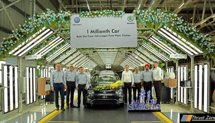 Volkswagen Pune Plant rolls out one millionth car in presence of Mr. Gurpratap Boparai, Mr. Steffen Knapp and the Board of Management