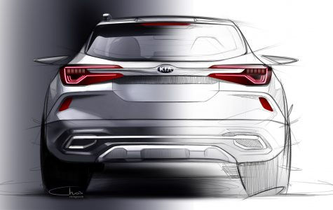 Kia reveals first image of new small SUV_1