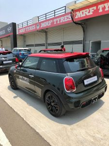 MINI John Cooper Works Hatch India launch rear profile