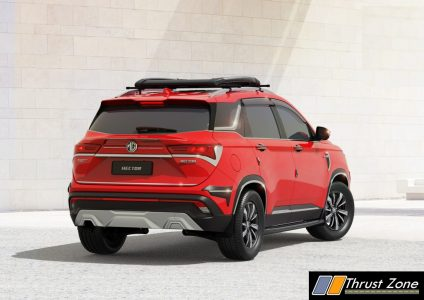 MG Hector- REAR - with CARRIER