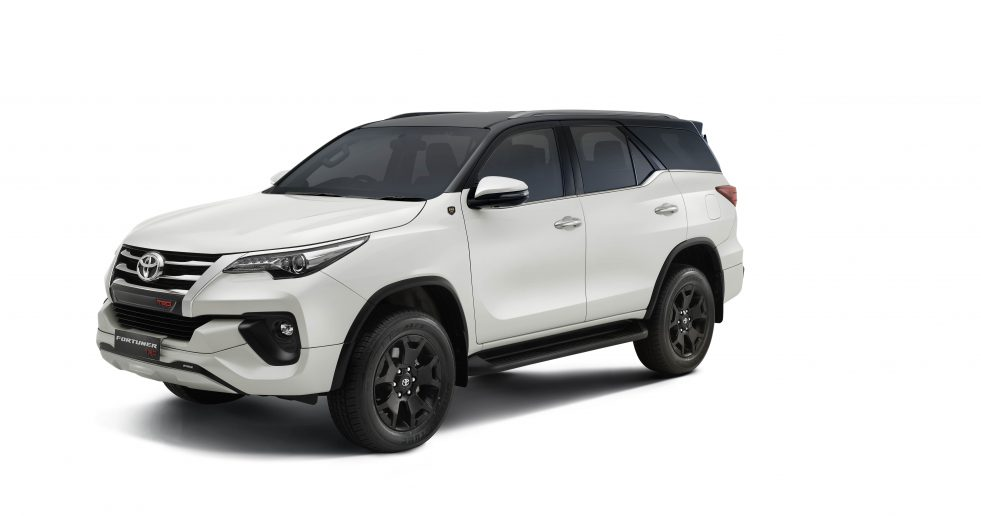 The New Toyota Fortuner TRD 'Celebratory Edition' with Pearl White with Attitude Black Dual Tone Exterior