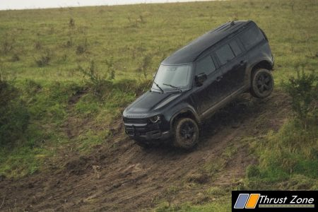 Behind the scenes image of the New Land Rover Defender featured in No Time To Die - 3
