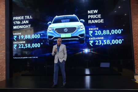 Rajeev Chaba, Managing Director and President, MG Motor India launches ZS EV at 19.88 lakhs