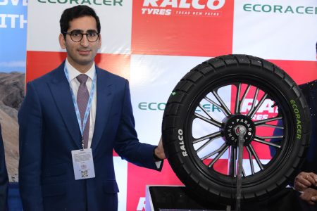 RALCO brand launched the innovative and eco-friendly -12080-18 Tyre for 2-wheelers at the Auto EXPO 2020, today (2)
