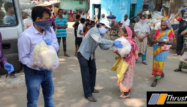 Distributing Groceries packs to those most affected by the pandemic