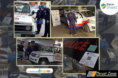 Droom Sanitises Gurugram Police Vehicles (2)