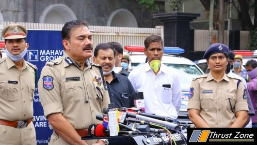 Hyderabad Police Vehicles To Be Sanitised By Mahavir Group (1)