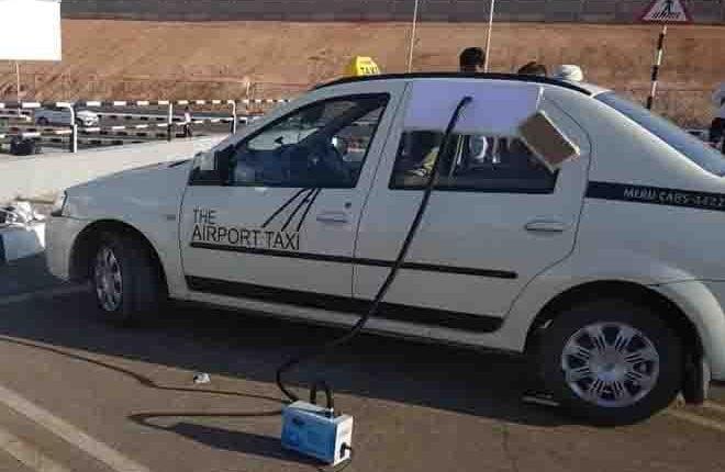 Meru Ozone Sanitises fleet For Essential Employees Transportation