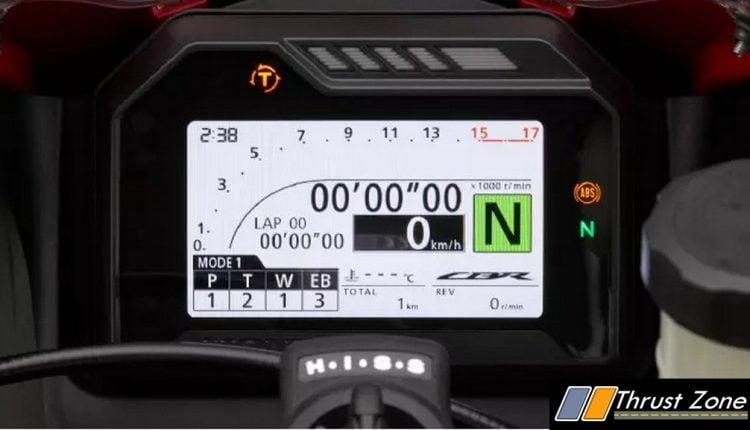 2021 Honda CBR 600RR meters