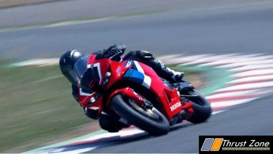2021 Honda CBR 600RR riding