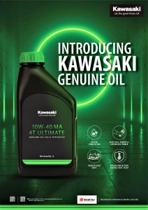 Kawasaki Genuine Oil - Poster
