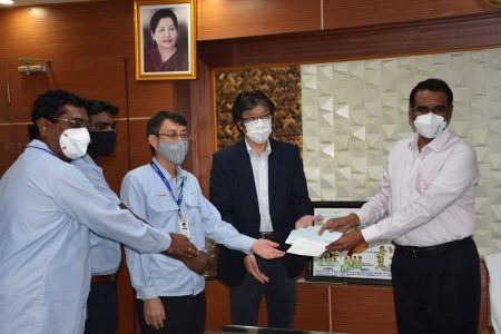 Yamaha Cheque Donation to CM Funds- 2nd June, 2020