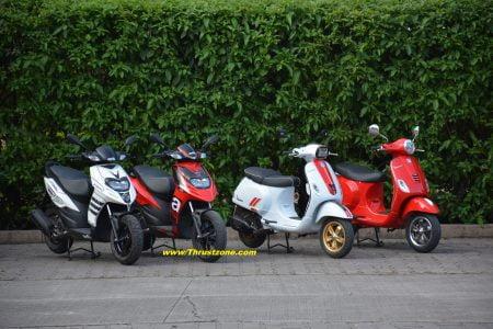 2020 Vespa And Aprilia scooters