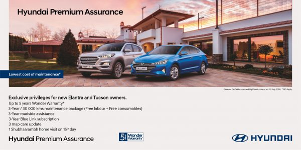 Hyundai Tucson and New Elantra India Customers Get Assurance Package