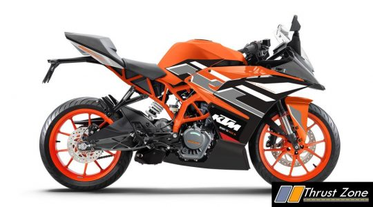KTM RC200 Electronic Orange