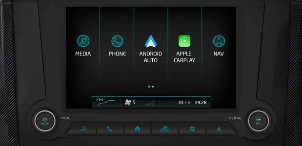 BS6 Mahindra Scorpio Gets Android Auto and Carplay (1)