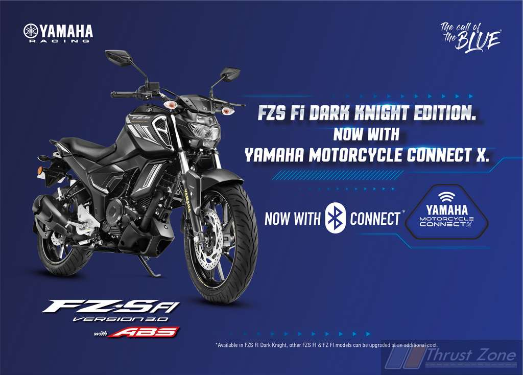 Yamaha FZS FI Dark Knight with Connect X