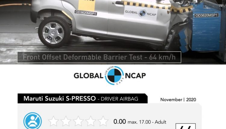 Maruti Spresso Gets Zero Stars At Global NCAP