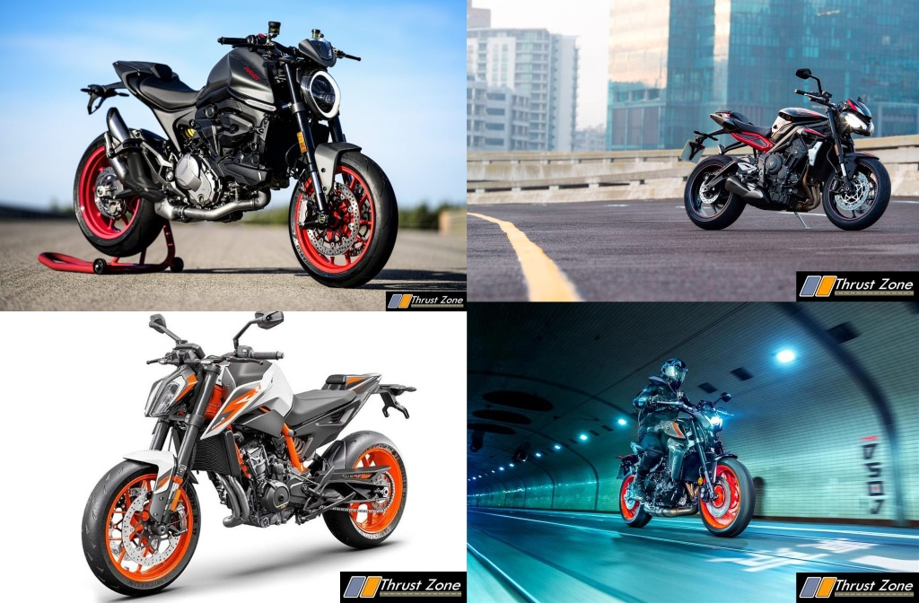 2021 Ducati Monster Vs Triumph Street Triple Vs MT-09 Vs Duke 890R