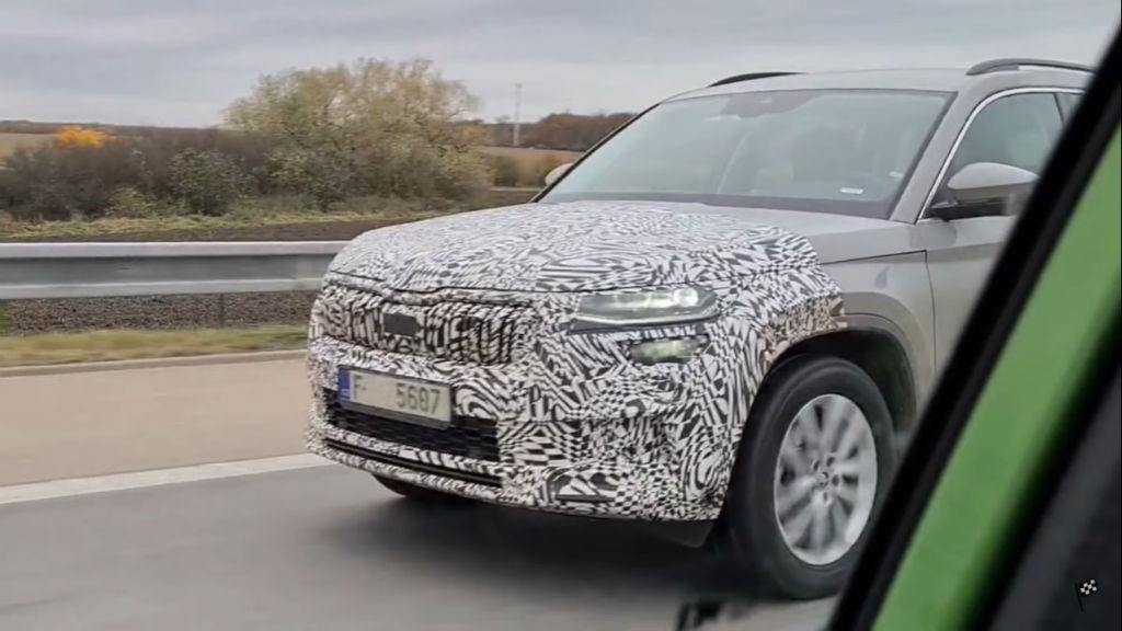 2021 Skoda Kodiaq Facelift Spotted Testing In Europe (2)